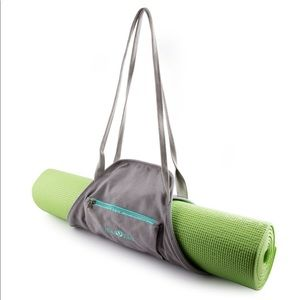 Gray Yoga Mat Wrap Bag Carrier